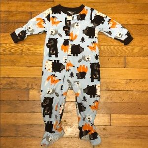 Forest animal footed pjs